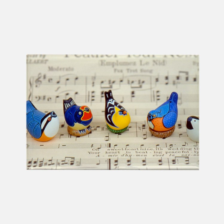 Bird Choir Rectangle Magnet
