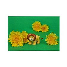 Dandy Lion Rectangle Magnet