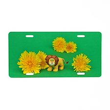 Dandy Lion Aluminum License Plate