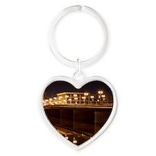 Sterling Rockfalls Bridge Heart Keychain