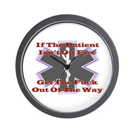 Firefighters Get Out Wall Clock