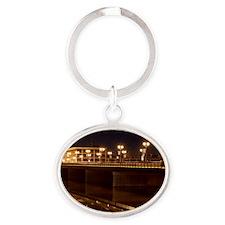 Sterling Rockfalls Bridge Oval Keychain