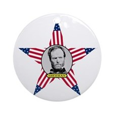 William Tecumseh Sherman Round Ornament