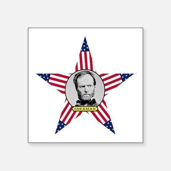 "William Tecumseh Sherman Square Sticker 3"" x 3"""