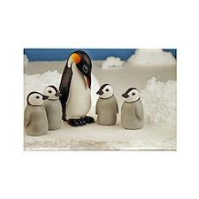 Emperor Penguins Rectangle Magnet