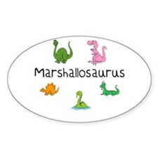 Marshallosaurus Oval Decal