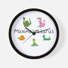 Maximusosaurus Wall Clock