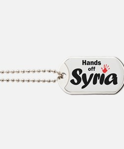 Hands off Syria Dog Tags