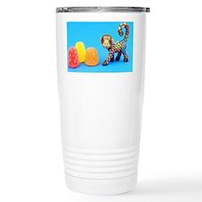Flowered Baboon Travel Mug