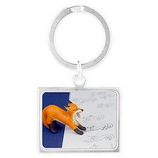 Fox Sketch Landscape Keychain