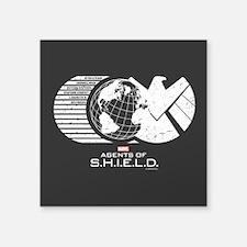 "S.H.I.E.L.D. Square Sticker 3"" x 3"""