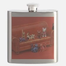 Eight Cats Flask