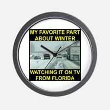 Watching It On TV In FLA Wall Clock