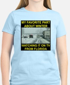 Watching It On TV In FLA T-Shirt