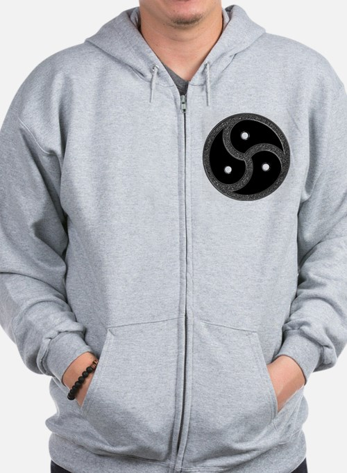 Chrome Look - BDSM Symbol Zip Hoodie