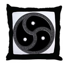 Chrome Look - BDSM Symbol Throw Pillow