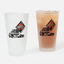 International Lone Star Semi Truck Drinking Glass