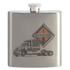 International Lone Star Semi Truck Flask