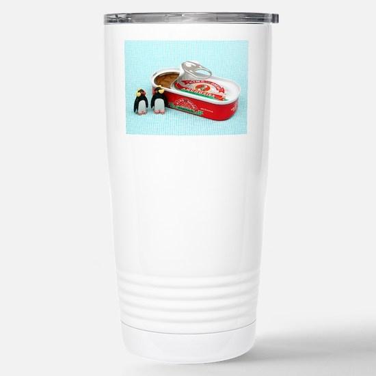 Penguin Fish Stainless Steel Travel Mug