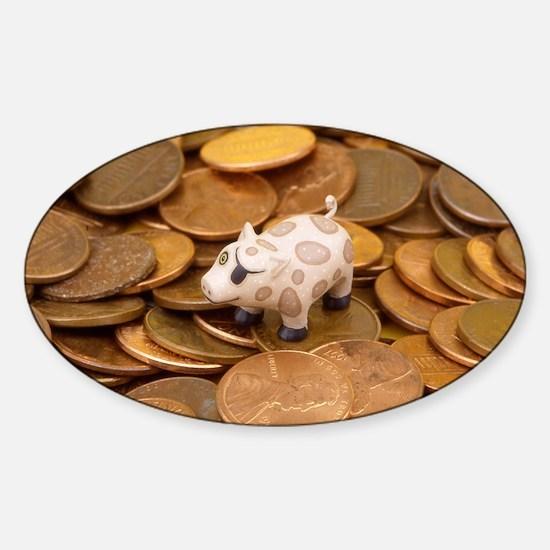 Penny Pig Sticker (Oval)