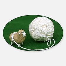 Sheep Yarn Sticker (Oval)