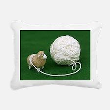 Sheep Yarn Rectangular Canvas Pillow