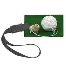 Sheep Yarn Luggage Tag