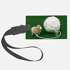 Sheep Yarn Luggage Tag