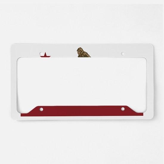 Northern California Bigfoot License Plate Holder