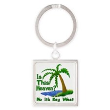 Is This Heaven? Square Keychain