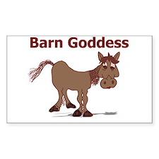 Barn Goddess Rectangle Decal