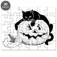 Black Cat on Pumpkin Puzzle