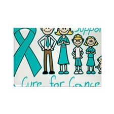 Gynecologic Cancer Support A Cure Rectangle Magnet