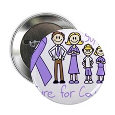 """General Cancer Support A Cure 2.25"""" Button"""