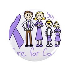 """General Cancer Support A Cure 3.5"""" Button (100 pac"""