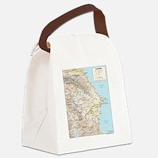 Azerbaijan map Canvas Lunch Bag
