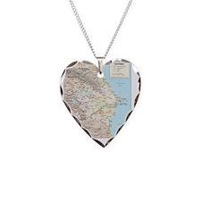 Azerbaijan map Necklace