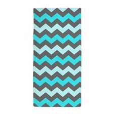 Blue Zigzag, Beach Towel
