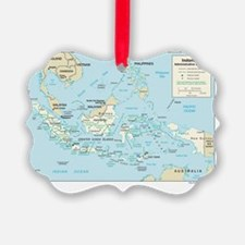 Indonesia map Ornament