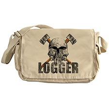Logger Skull Messenger Bag