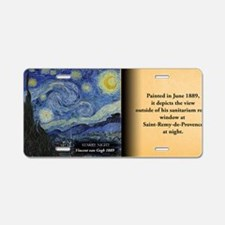 Starry Night Historical Aluminum License Plate