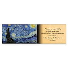 Starry Night Historical Bumper Bumper Sticker