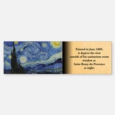 Starry Night Historical Bumper Bumper Sticker