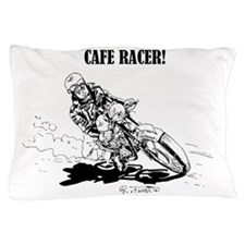Cafe Racer motorbike drawing 1 Pillow Case