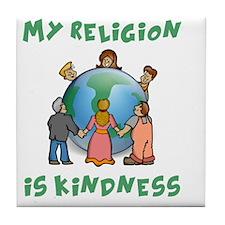 My Religion is Kindness - Dalai Lama  Tile Coaster