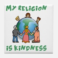 My Religion is Kindness - Dalai Lama  Tile Coaster