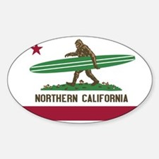 Northern California Bigfoot Sticker (Oval)