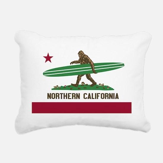 Northern California Bigf Rectangular Canvas Pillow