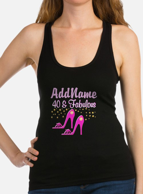40TH PINK SHOES Racerback Tank Top
