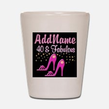 40TH PINK SHOES Shot Glass